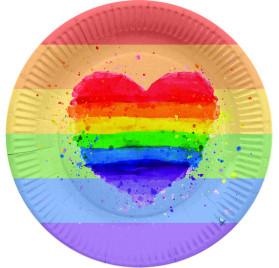 8 PLATO REDONDO 23 CM LGBT