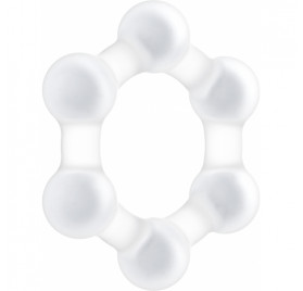 NO 82 WEIGHTED COCK RING BLANCO