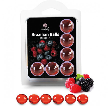 SET 6 BRAZILIAN BALLS FRUTAS DEL BOSQUE
